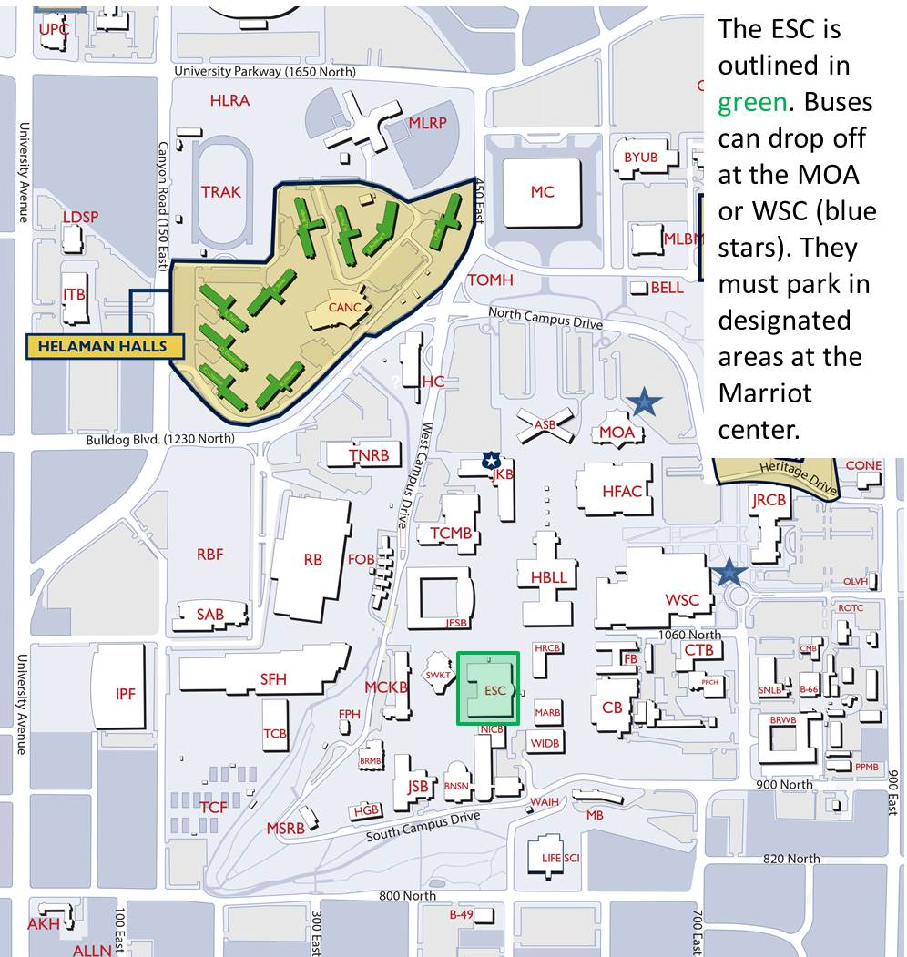 Byu parking map my blog campus map campus map gumiabroncs